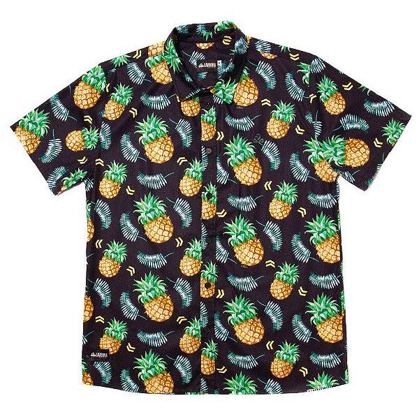 Camisa Estampada Tricoline - Pineapple