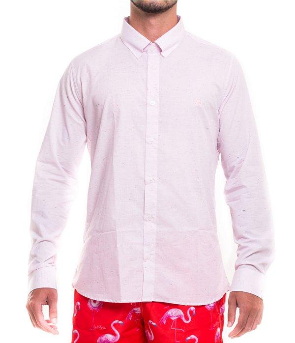 Camisa Masculina Manga Longa Botonê Rosa