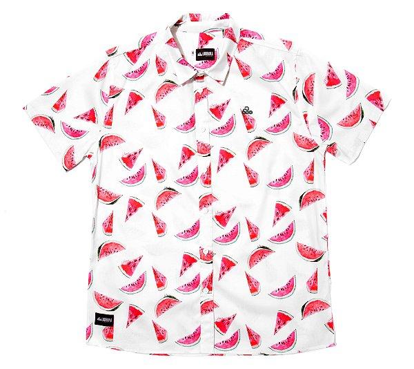 Camisa Estampada Masculina Manga Curta Tricoline Watermelon