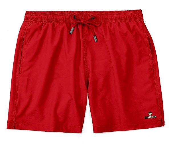 Shorts Praia Masculino Básico LaVibora Vermelho