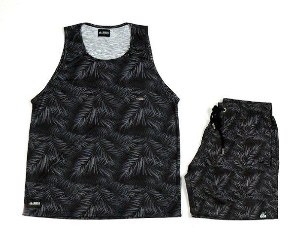Conjunto Estampado Regata & Shorts - Black Tropical