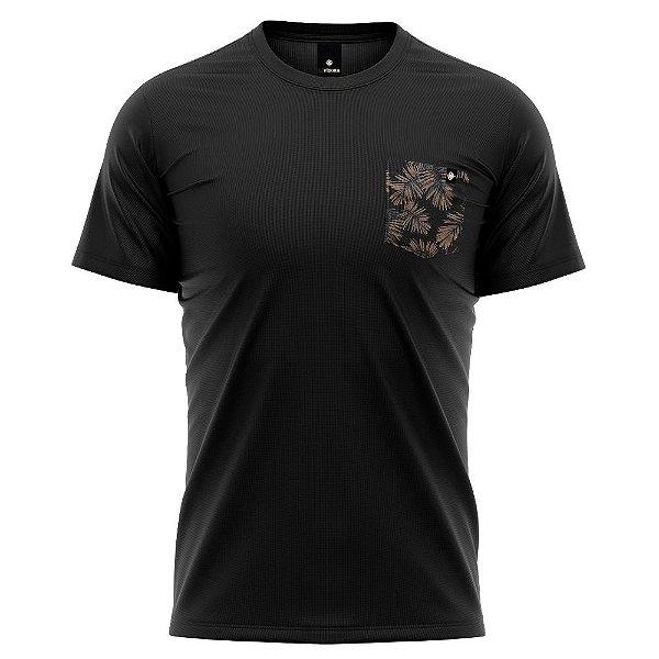 Camiseta Bolso Estampado LaVíbora - Folhagem Negra