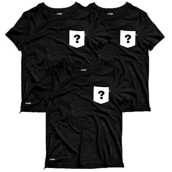 Kit Surpresa 3 Camisetas Bolsos Estampados - Estampas Sortidas