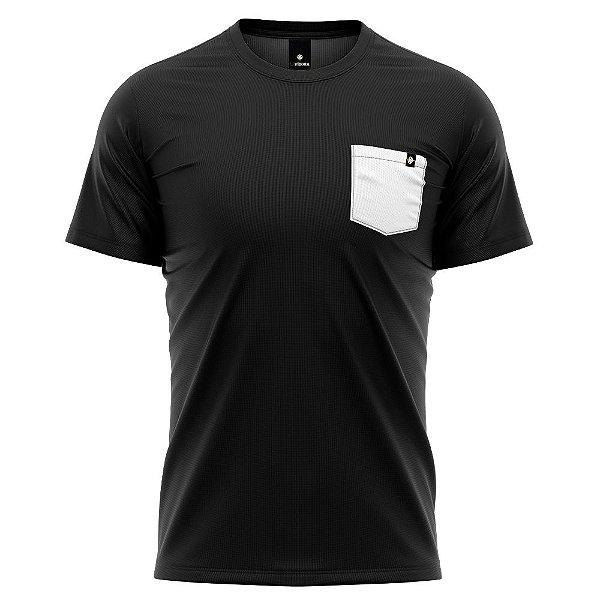 Camiseta Básica Algodão Premium 30.1 - Bolso Inverso