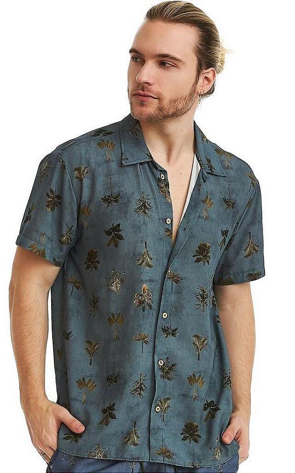 Camisa Masculina Estampada Manga Curta Viscose - Estonada