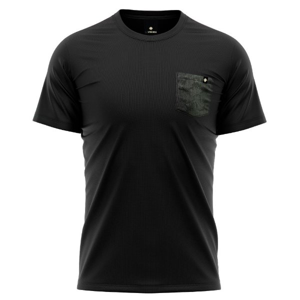 Camiseta Bolso Estampado - Dark