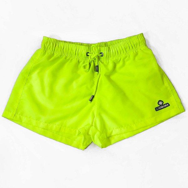 Shorts Praia Feminino Liso Neon LaVíbora - Amarelo Fluorescente