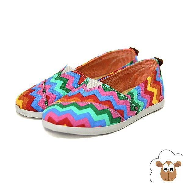 Alpargata Infantil Sheep Shoes Zig Zag Kids