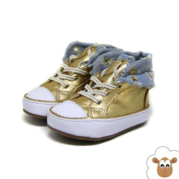 Bota Infantil Gambo Ouro e Jeans Destroyed