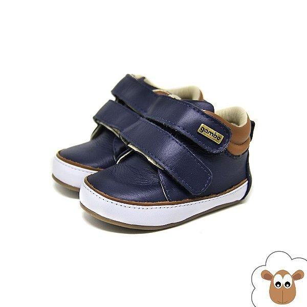 Bota Infantil Gambo Azul Marinho Velcro