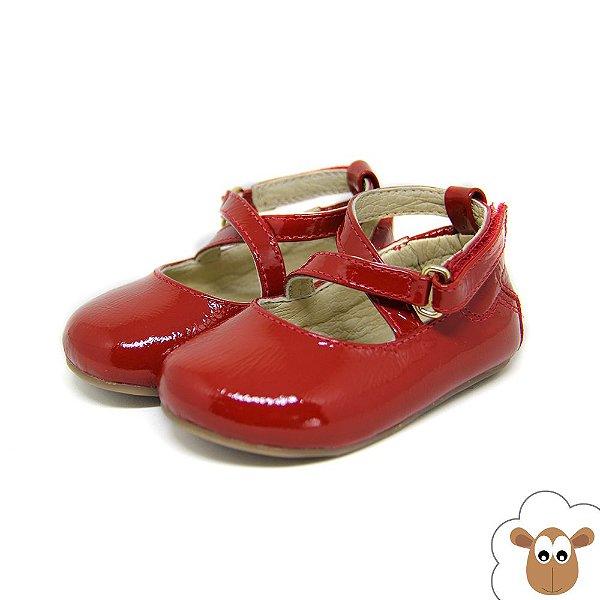 Sapatilha Infantil - Gambo - Verniz Vermelho