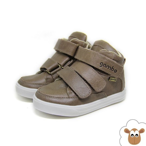 Bota Infantil - Gambo - Capuccino - Velcro