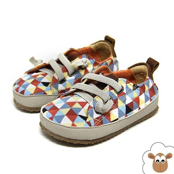 Tênis infantil Sheep Shoes Triângulo Cadarço Elástico