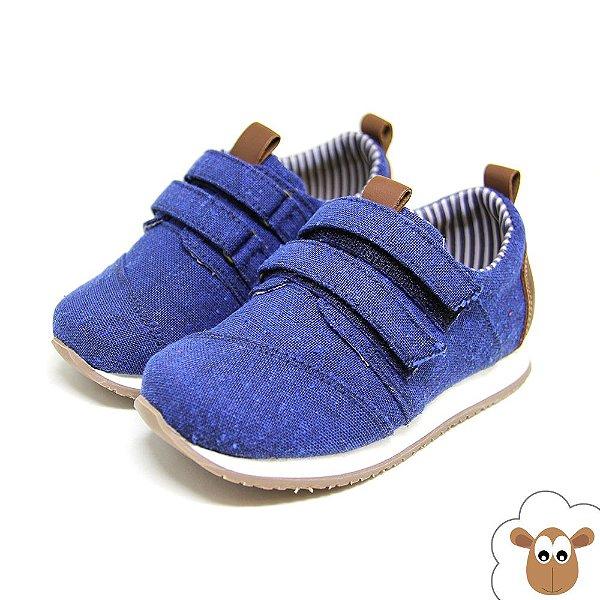 Tênis Infantil Jogging Sheep Shoes Azul Velcro