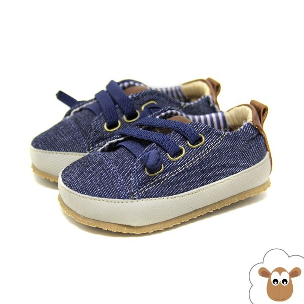 Tênis infantil Sheep Shoes Jeans Dark Cadarço elástico