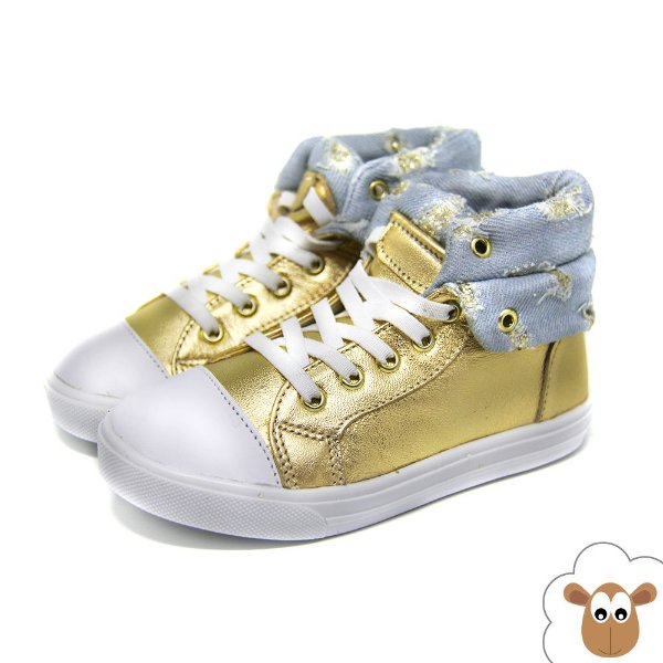 Bota Infantil Gambo Ouro e Jeans Destroyed KIDS