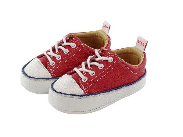 Tênis Infantil Catz Noddy Cadarço Vermelho e branco