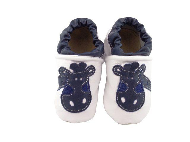 Pantufa Infantil Catz Nicky Girafa Branco e marinho
