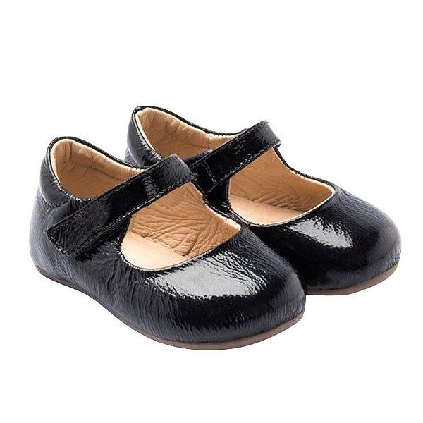 Sapatilha infantil Sheep Shoes by Gambo Verniz preto