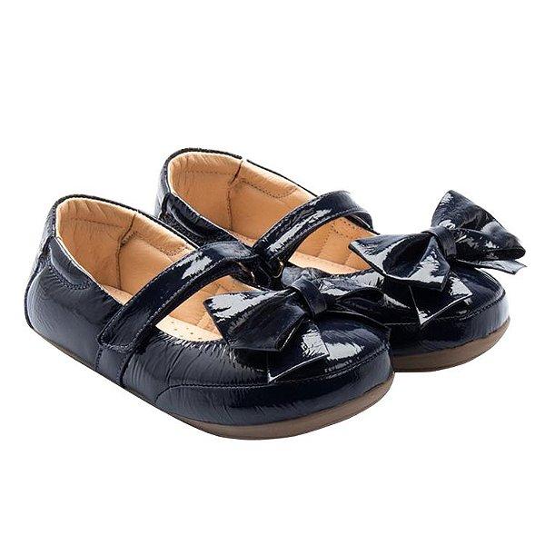 501f3915b9c Sapatilha infantil Sheep Shoes by Gambo Verniz Azul Marinho com laço Kids