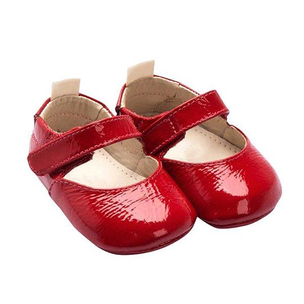 6ae21b1efc2 Sapatilha Infantil Sheep Shoes by Gambo Verniz Vermelho Newborn ...