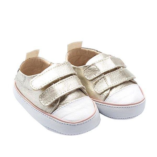 Tênis Infantil Sheep Shoes by Gambo Ouro light e rosa Newborn