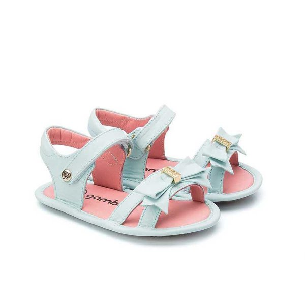 Sandália Infantil Sheep Shoes by Gambo Azul Bebê Laço