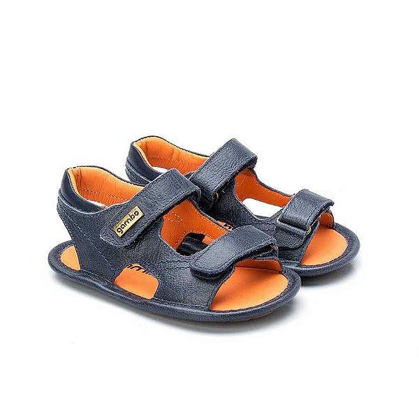 Sandália Infantil Sheep Shoes by Gambo 2 Velcros Marinho