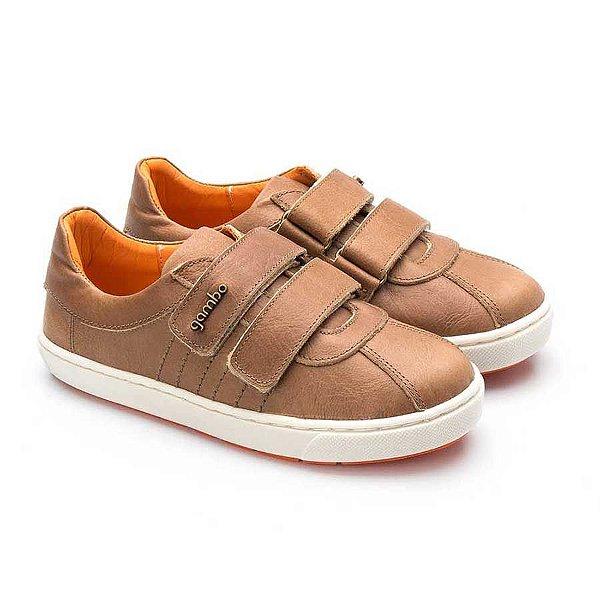 Tênis infantil Sheep Shoes by Gambo 2 Velcros Avelã