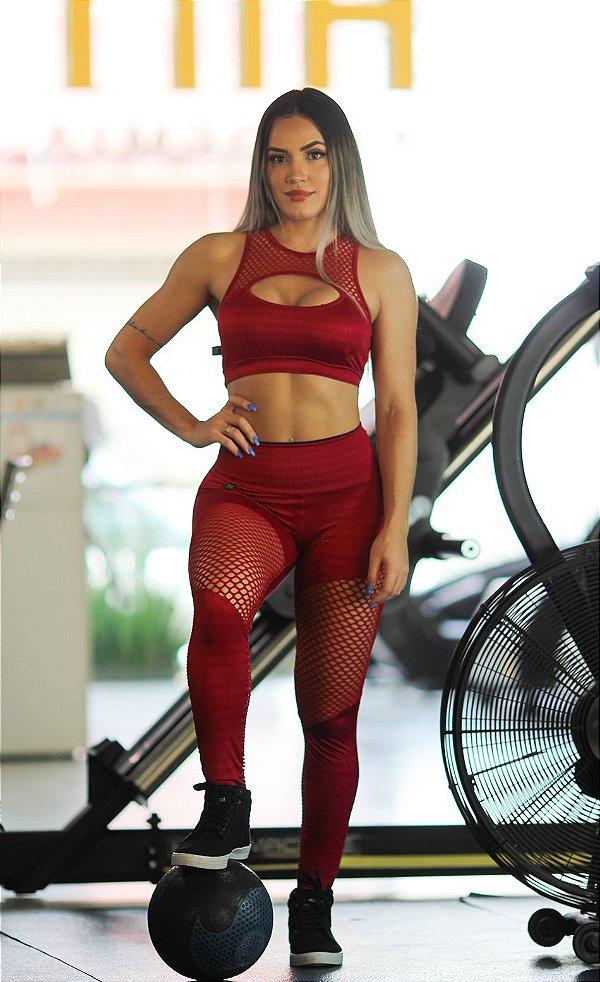 01f27c113 Legging Fitness Dantelli Onça Pink - Wfit Moda Fitness Atacado   Varejo