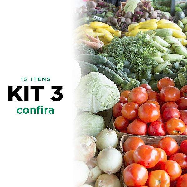 Kit 3 de Legumes - 15 itens