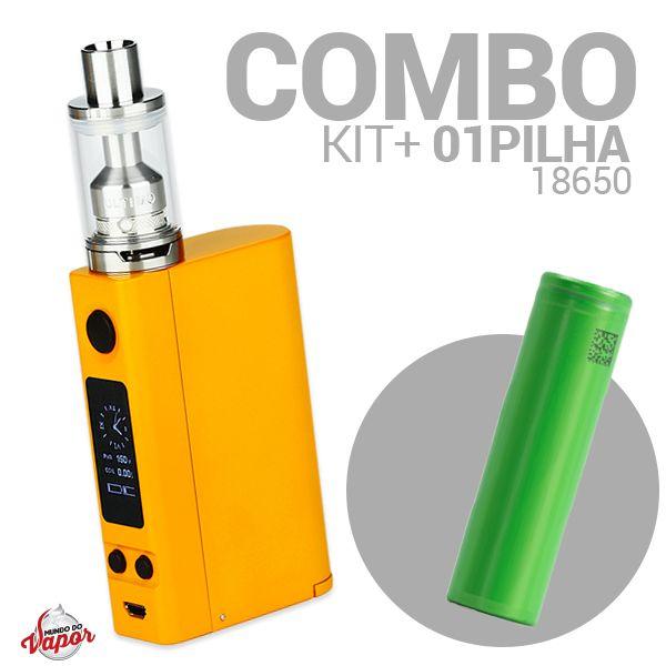 COMBO Kit Evic VTC Dual + Atomizador ULTIMO 4ml - Joyetech + Bateria/ Pilha 18650