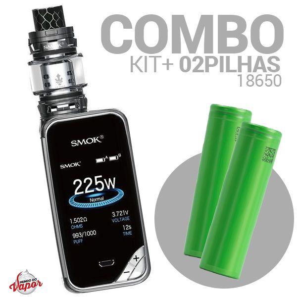 COMBO Kit X Priv 225w TC - Smok + 2 Bateria/Pilha 18650