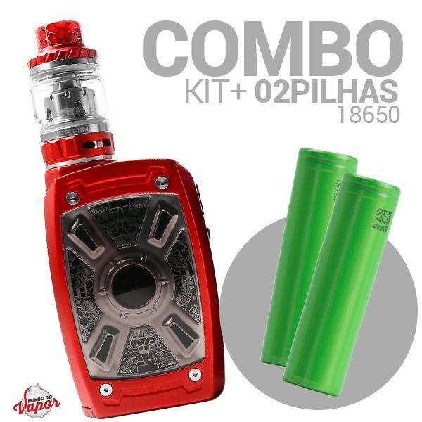COMBO Kit XT Mini 220W - Teslacigs + 2 Bateria/Pilha 18650