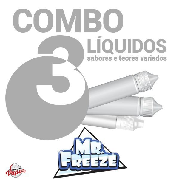 COMBO 3 Líquido Mr Freeze 100ml