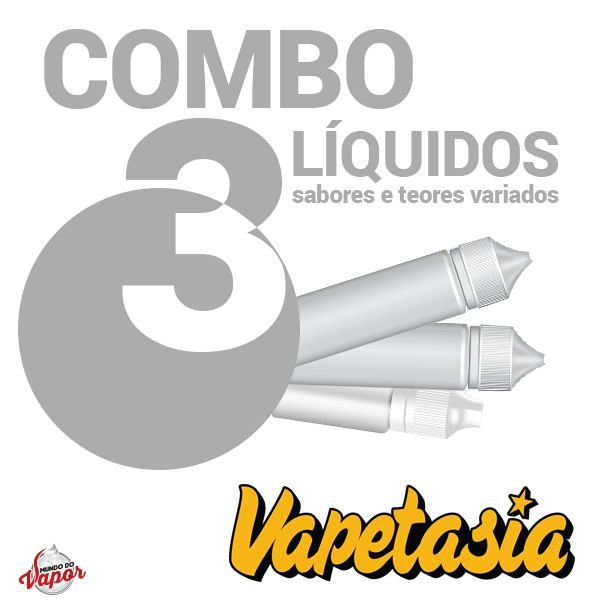 COMBO 3 Líquido VAPETASIA 100ml