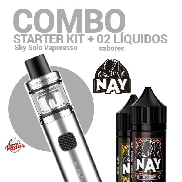 COMBO Kit Sky Solo - Vaporesso + 2 líquidos Nay 0mg - 30ml