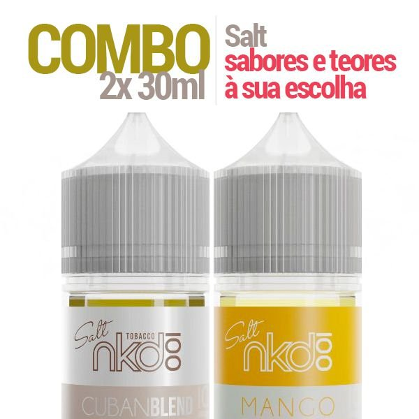 COMBO 2 Líquido Naked 30ml - Nic Salt