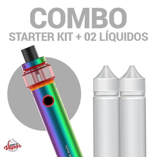 COMBO Kit Vape PEN 22 Light- Smok + 2 líquidos Atcha Sabores 0mg - 30ml