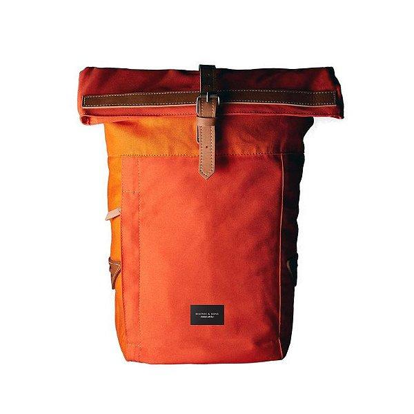 Mochila em Couro Corso – Orange