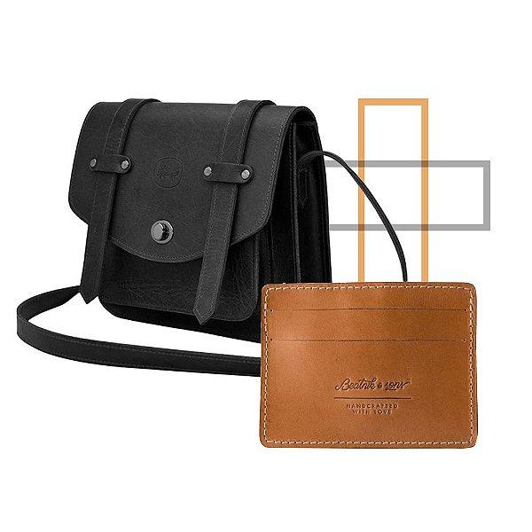 Kit Minimal: Bolsa Joan Black + Carteira Corso Nu