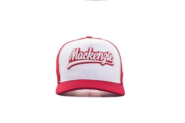 Boné Trucker Mackenzie Vermelho/Branco