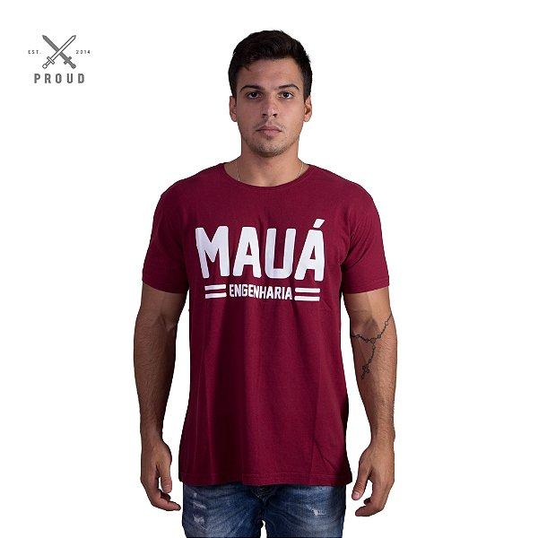 Camiseta Mauá Engenharia Bordô