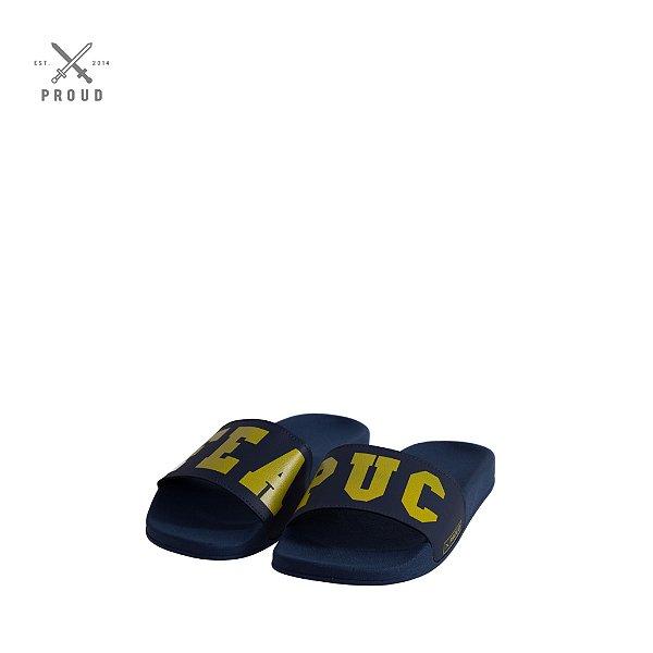 Chinelo Slide Azul PUC