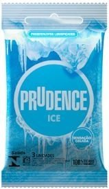 PRESERVATIVO ICE COM 3 UNIDADES PRUDENCE