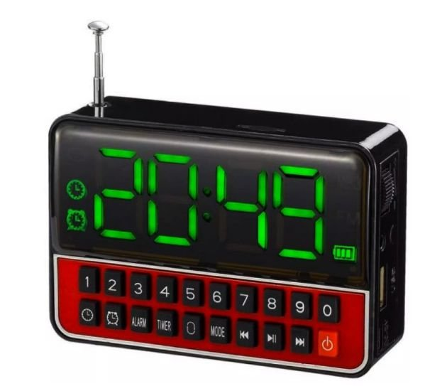 76fe1952072 Rádio Relogio Fm Com Mp3 Player Ws-1513 - 321Comprei