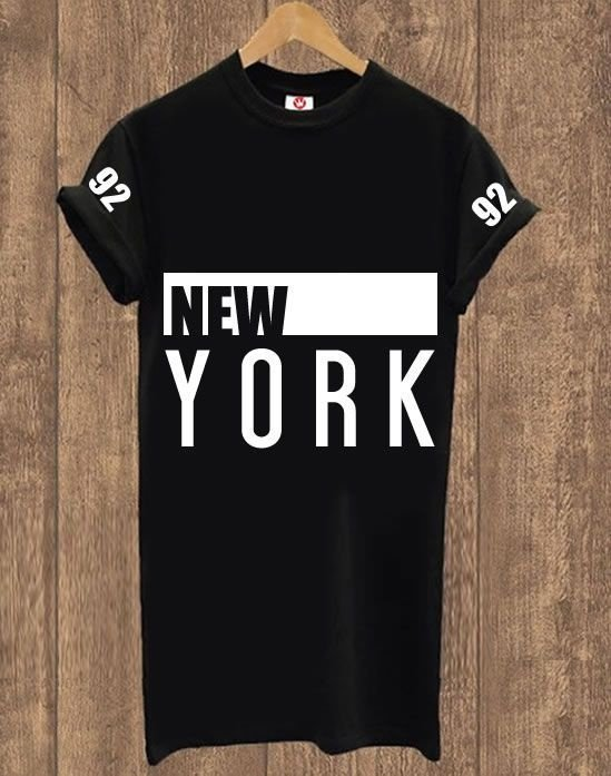 Camiseta Alongada New York