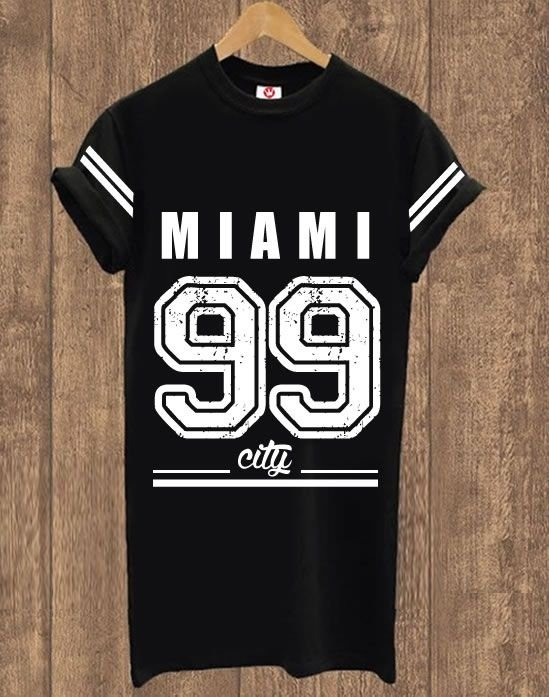 Camiseta Alongada Miami