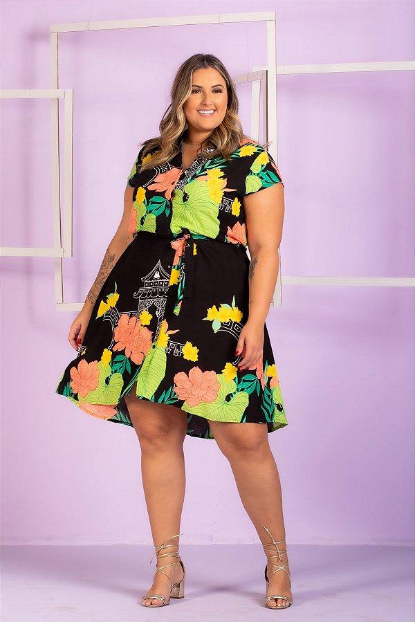 Vestido Estampado Lara Plus Size