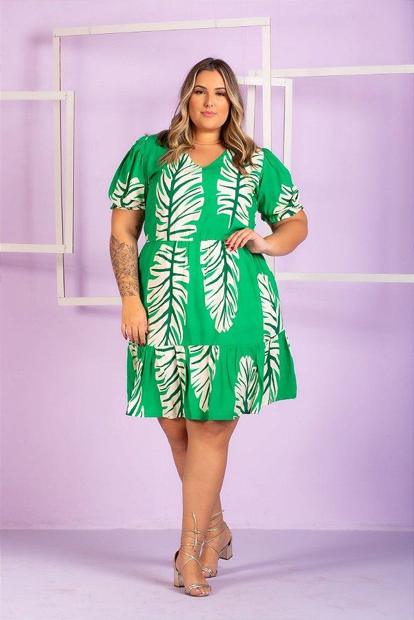 Vestido Estampado Rebeca Plus Size
